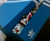 Adidas завлекает коробкой. Партизанская реклама вцентре Киева