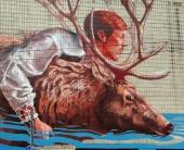 В Киеве появился огромный мурал с оленем