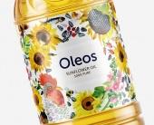 Этикетка для нового подсолнечного масла Оleos
