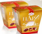 Дизайн дляупаковки набора конфет ТМ «ПАРИ»
